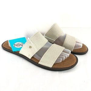 Mad Love Womens Tahlia Sandals Slide Canvas Double